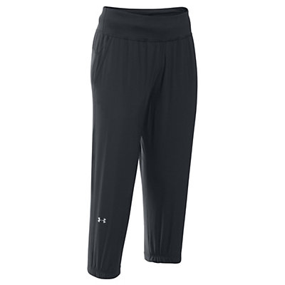 Under Armour HeatGear Sunblock 50 Womens Pants, Black-Metallic Silver, viewer