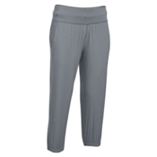 Under Armour HeatGear Sunblock 50 Womens Pants, Steel-Steel-Metallic Silver, medium
