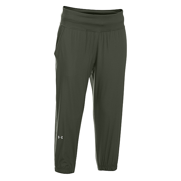 Under Armour HeatGear Sunblock 50 Womens Pants, Downtown Green-Metallic Silver, 600