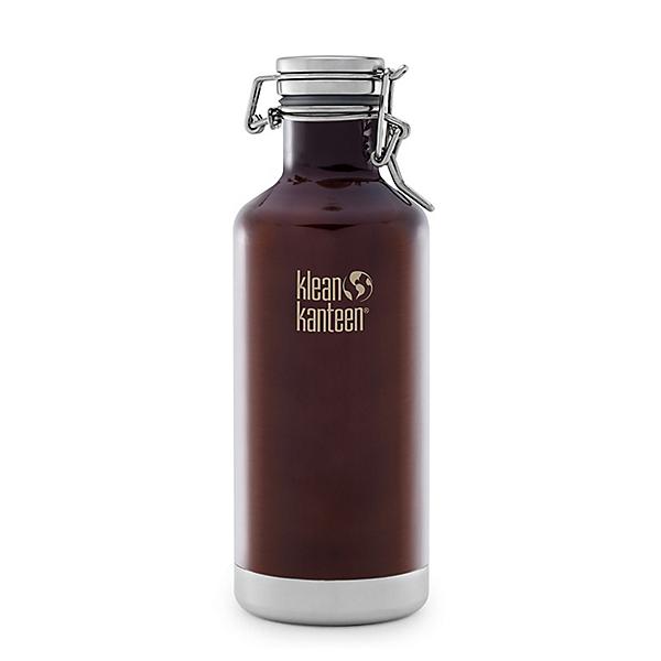 Klean Kanteen 32oz. Lok Cap Growler Insulated Water Bottle 2017, Dark Amber, 600