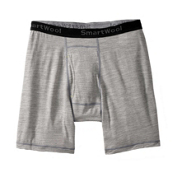 SmartWool NTS Micro 150 Pattern Boxer Brief Mens Underwear, Silver Gray Heather, medium