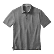 SmartWool Fish Creek Solid Polo, Medium Gray, medium
