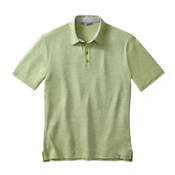 SmartWool Fish Creek Solid Polo Mens Shirt, Pesto, medium
