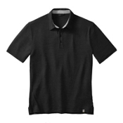 SmartWool Fish Creek Solid Polo Mens Shirt, Black, medium