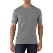 SmartWool Fish Creek Solid Mens T-Shirt, Medium Gray, medium