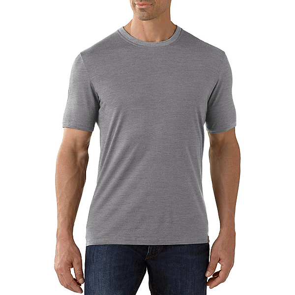 SmartWool Fish Creek Solid Mens T-Shirt, Medium Gray, 600