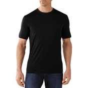 SmartWool Fish Creek Solid Mens T-Shirt, Black, medium