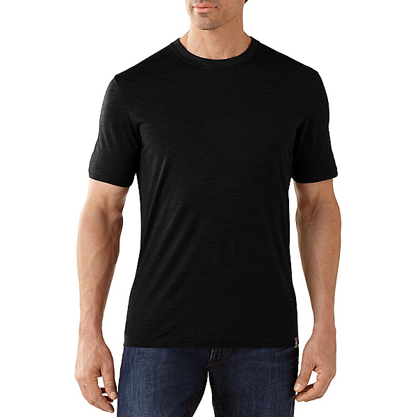 SmartWool Fish Creek Solid Mens T-Shirt, Black, 600