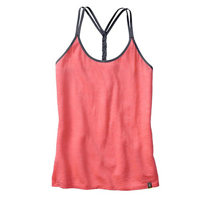 SmartWool Emerald Valley Womens Tank Top, Bright Coral, viewer