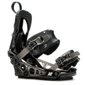 K2 Tryst Womens Snowboard Bindings 2017, Black, medium