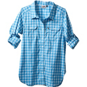 KAVU Wynonna Womens Shirt, River Blue, medium