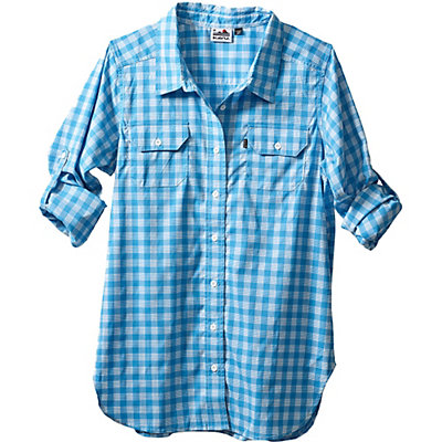 KAVU Wynonna Womens Shirt, River Blue, viewer