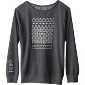 KAVU Lounge Around Womens Sweatshirt, Black Smoke, medium