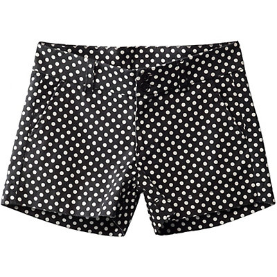 KAVU Catalina Womens Short, Black Dots, viewer