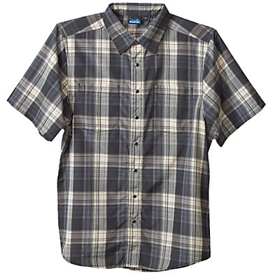 KAVU Benjamin Mens Shirt, Black Smoke, viewer
