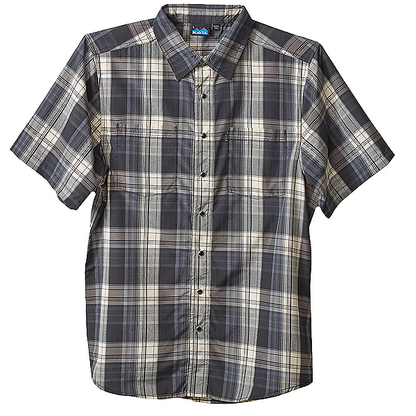 KAVU Benjamin Mens Shirt, Black Smoke, 600