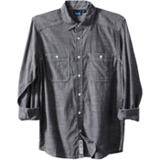 KAVU Charlestown Mens Shirt, Navy, medium