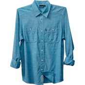 KAVU Charlestown Mens Shirt, River Blue, medium