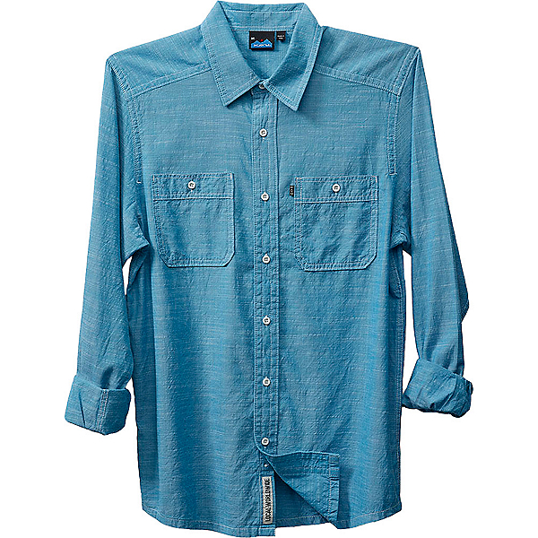KAVU Charlestown Mens Shirt, River Blue, 600