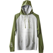 KAVU Klassic Mens Hoodie & Sweatshirt, Military Green, medium