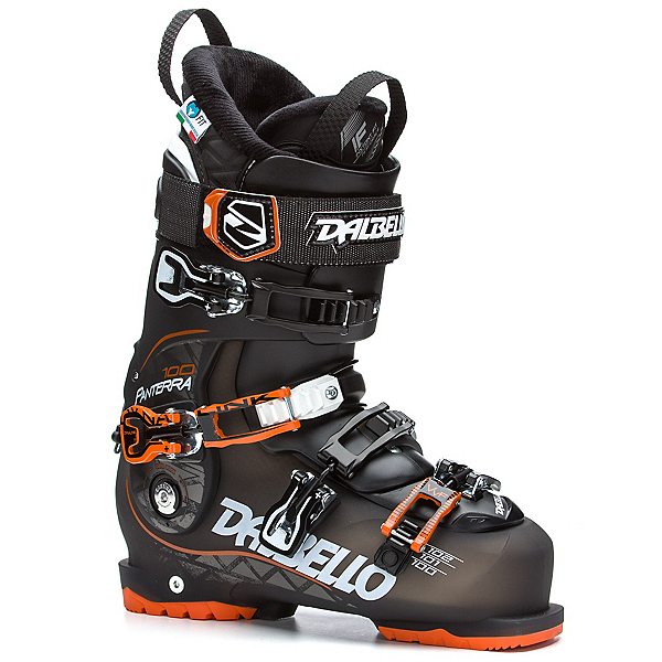 Dalbello Panterra 100 Ski Boots 2017, Black Transparent-Black-Orange, 600