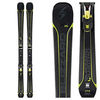 Blizzard Quattro 8.4 Ti Skis with Xcell 12 Bindings 2017, , viewer