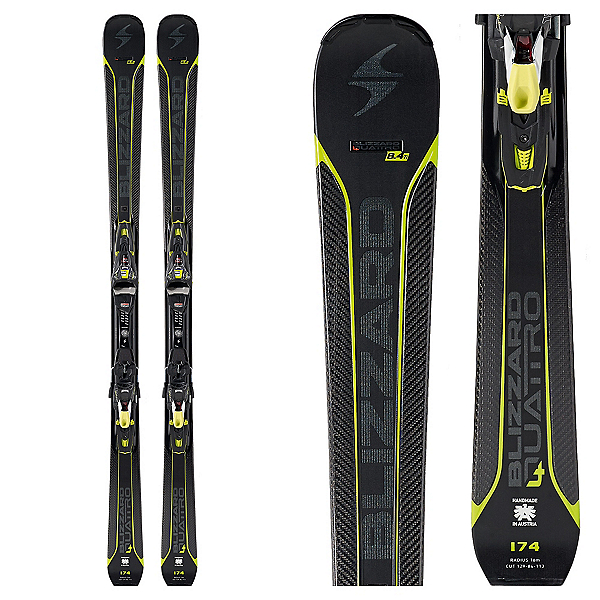 Blizzard Quattro 8.4 Ti Skis with Xcell 12 Bindings 2017, , 600