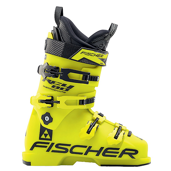 Fischer RC4 80 Junior Race Ski Boots 2017, Yellow-Yellow, 600