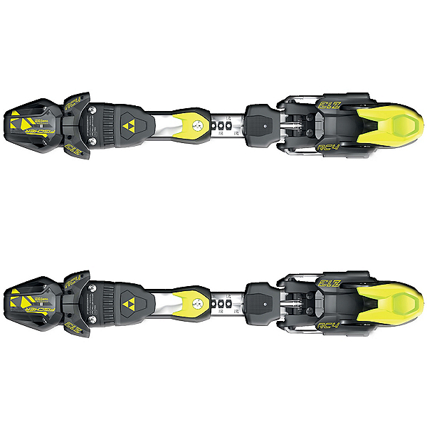 Fischer RC4 Z13 FreeFlex Ski Bindings 2017, Solid Black-Yellow, 600