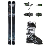 Icelantic Pilgrim, Salomon Z12, and Rossignol Allspeed 100 Ski Package, , medium