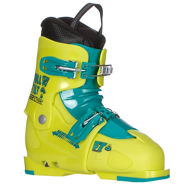 Full Tilt Growth Spurt Kids Ski Boots 2017, Green-Green, 600