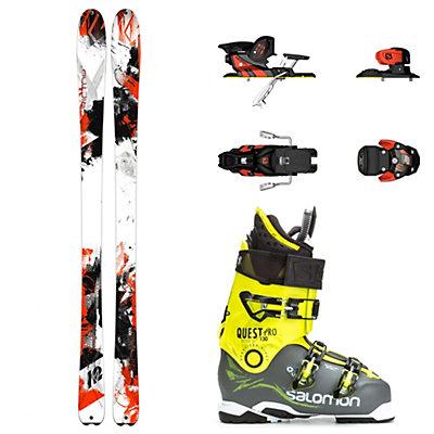 K2 AMP Rictor 90XTi, Salomon Warden, and Salomon Quest Pro 130 Ski Package, , viewer