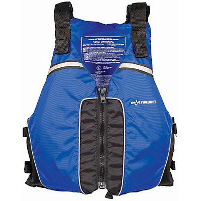 Extrasport Universal Adult Kayak Life Jacket, Blue-Black, viewer