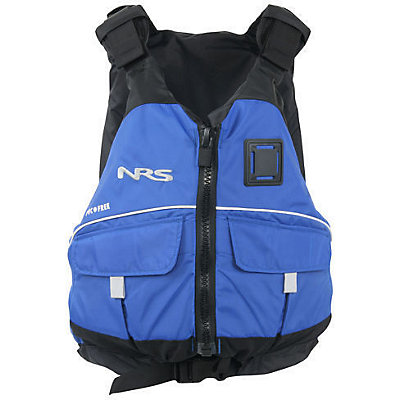 NRS Vista PFD Adult Kayak Life Jacket, Blue, viewer