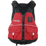 NRS Vista PFD Adult Kayak Life Jacket, Red, medium