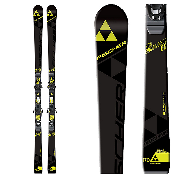 Fischer RC4 World Cup GS Jr. Curv Booster Junior Race Skis 2017, , 600