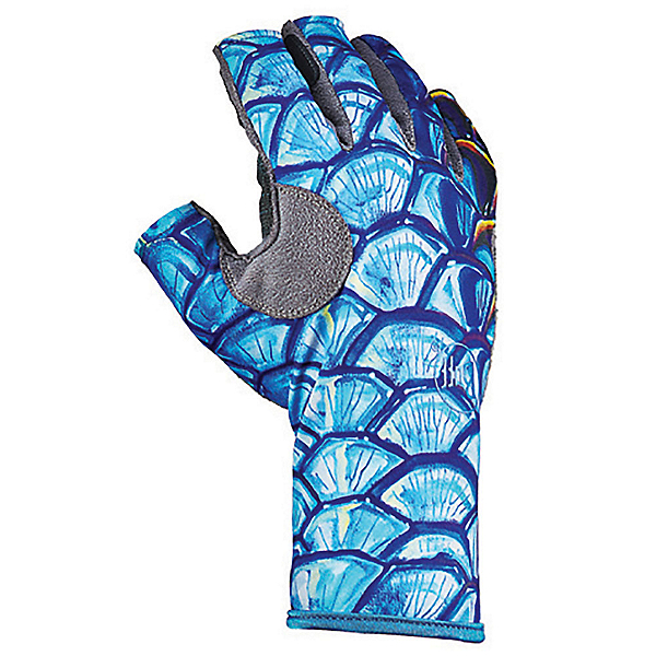 Buff Pro-Series Angler III Paddling Gloves, Tarpon Scale, 600