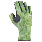 Buff Pro-Series Angler III Paddling Gloves, Water Green, medium
