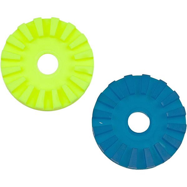 Scotty Slip Discs - Pair, Yellow-Turq, 600