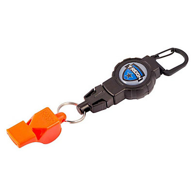T-Reign Retractable Gear Tether with Fox 40 Safety Whistle, Black, viewer