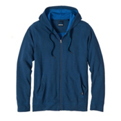 Prana Barringer Full Zip Mens Hoodie & Sweatshirt, Blue Ridge, medium