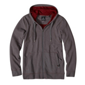 Prana Barringer Full Zip Mens Hoodie & Sweatshirt, Coal, medium