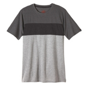 Prana Jax Crew Mens T-Shirt, Gravel, medium