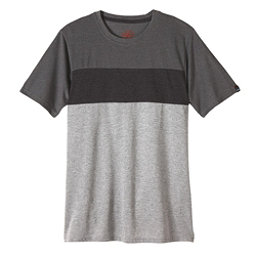 Prana Jax Crew Mens T-Shirt, Gravel, 256