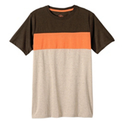 Prana Jax Crew Mens T-Shirt, Mud, medium