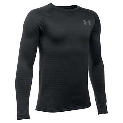 Under Armour Base 2.0 Kids Long Underwear Top, Black-Graphite, viewer