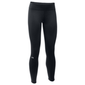 Under Armour Base 2.0 Womens Long Underwear Pants, Black-Glacier Gray, medium
