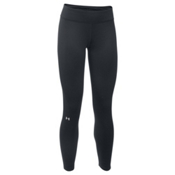 Under Armour Base 3.0 Womens Long Underwear Pants, Black-Glacier Gray, medium