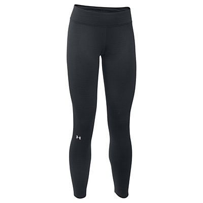 Under Armour Base 3.0 Womens Long Underwear Pants, Black-Glacier Gray, viewer
