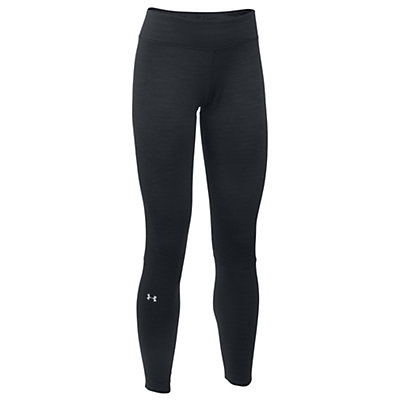 Under Armour Base 4.0 Womens Long Underwear Pants, Black-Glacier Gray, viewer